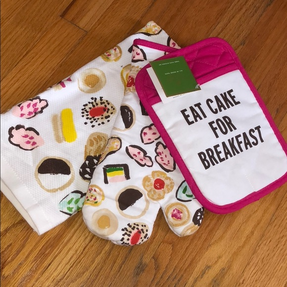 3 piece kitchen set compact kate spade eat cake piece kitchen set kate spade accessories poshmark